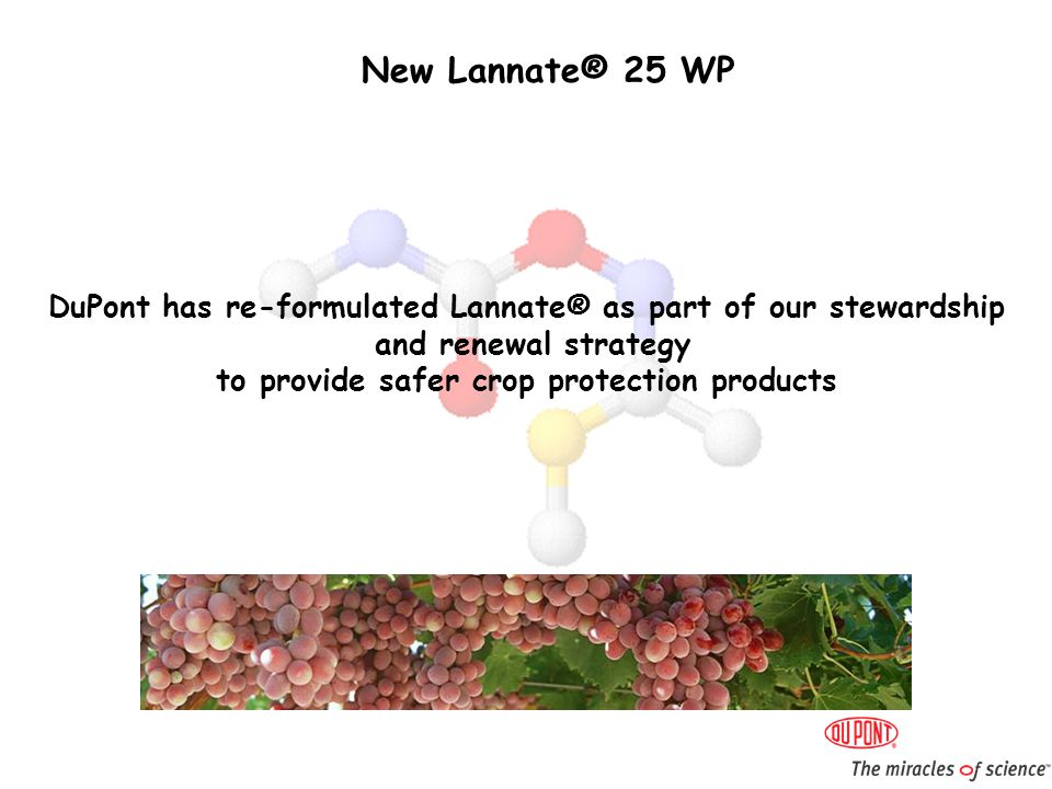 New Lannate® 25 WP What is different about Lannate® 25 WP .