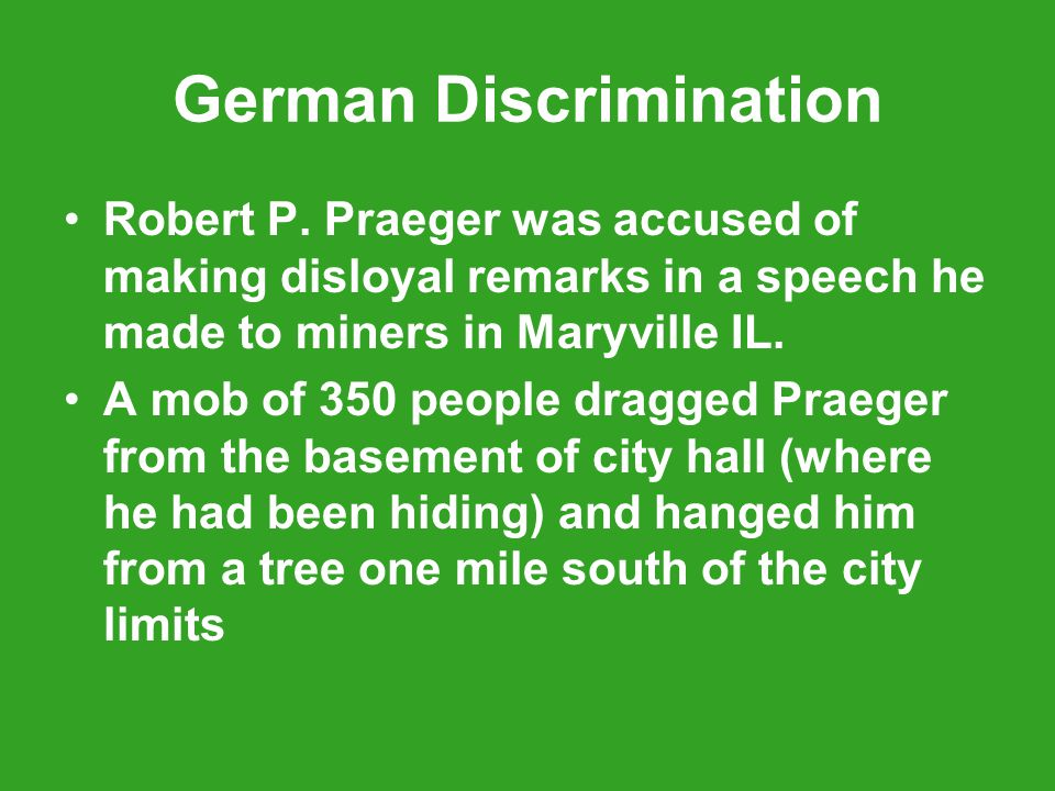 German Discrimination Robert P.