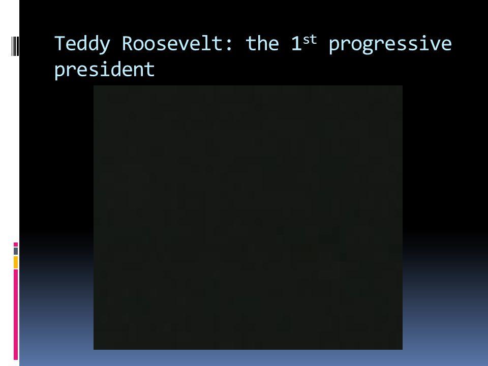 Teddy Roosevelt: the 1 st progressive president