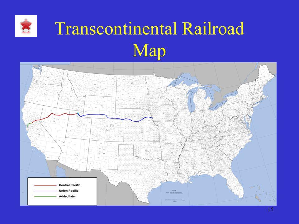 15 Transcontinental Railroad Map