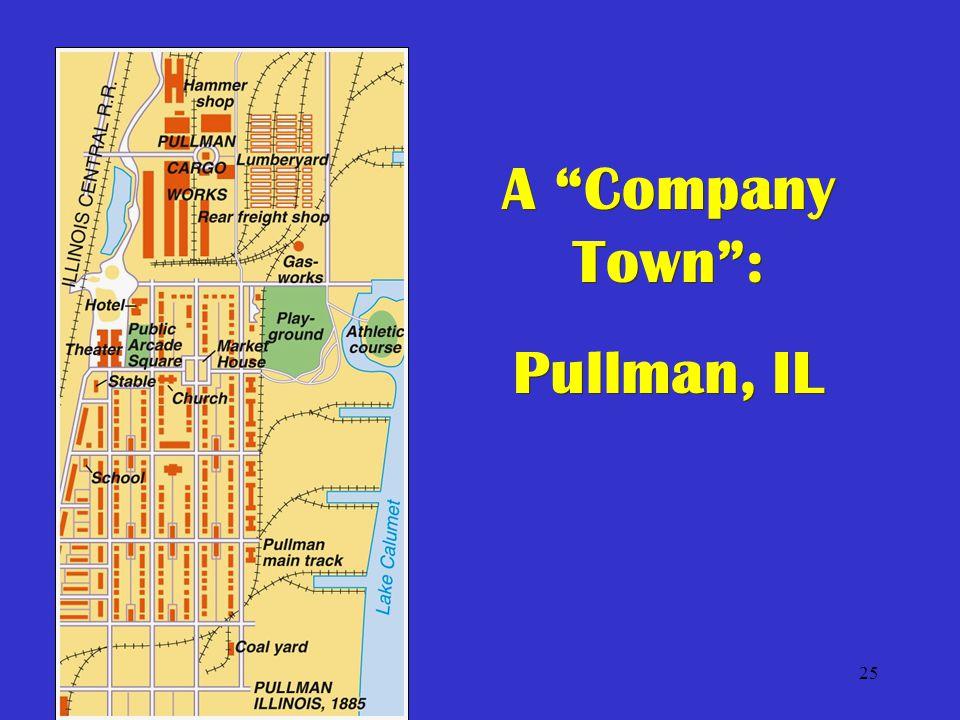 25 A Company Town : Pullman, IL A Company Town : Pullman, IL