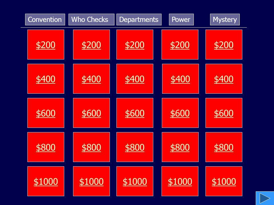 $200 $400 $600 $800 $1000 $200 $400 $600 $800 $1000 $200 $400 $600 $800 $1000 $200 $400 $600 $800 $1000 $200 $400 $600 $800 $1000 ConventionWho Checks