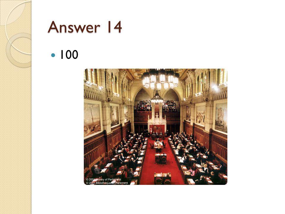 Answer 14 100