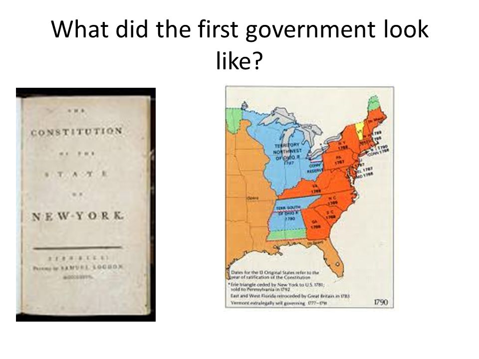 What did the first government look like