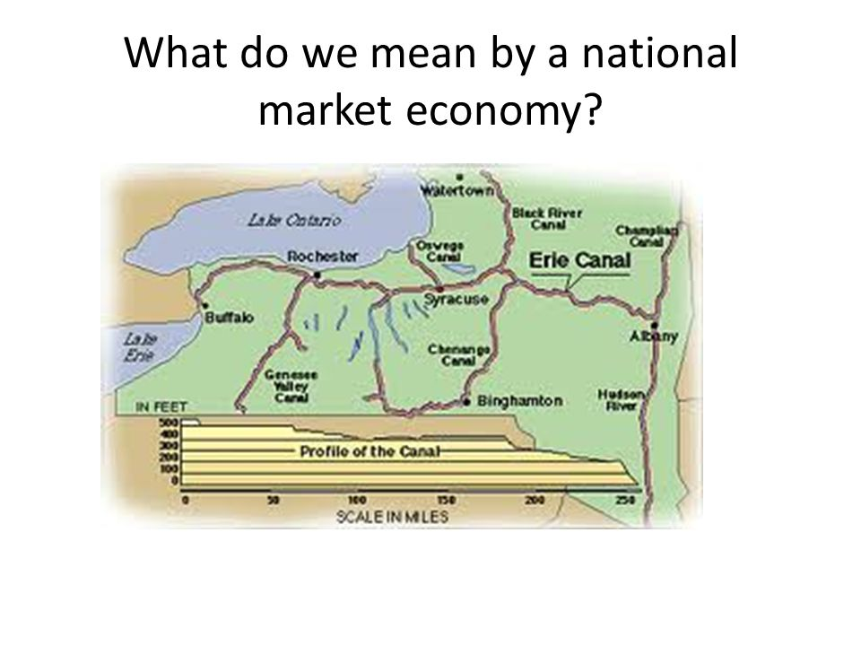 What do we mean by a national market economy