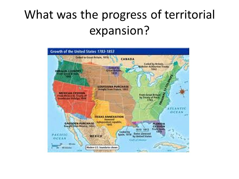 What was the progress of territorial expansion?