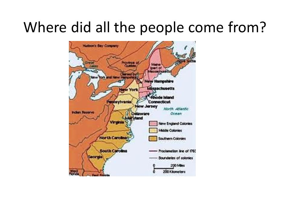 Where did all the people come from