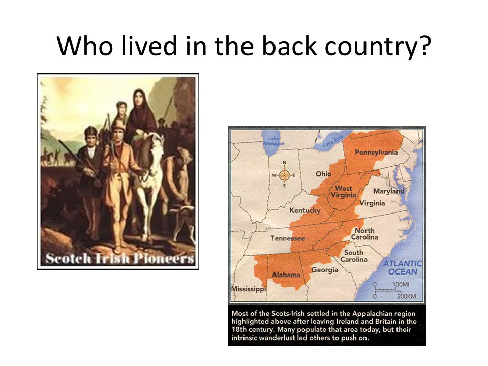 Who lived in the back country