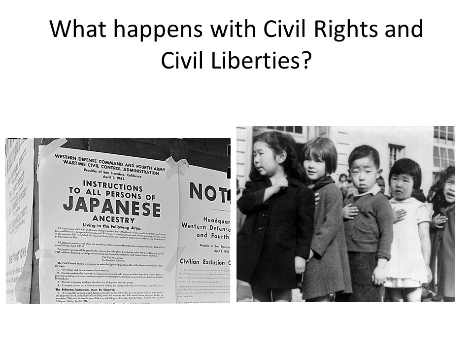 What happens with Civil Rights and Civil Liberties