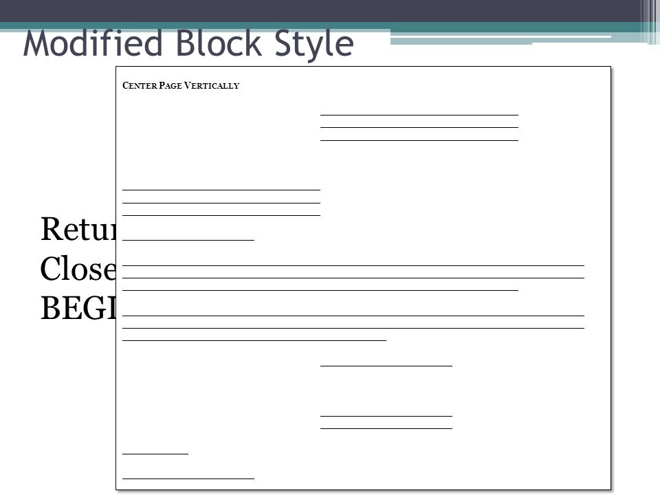 Modified Block Style Format Gumus Northeastfitness Co
