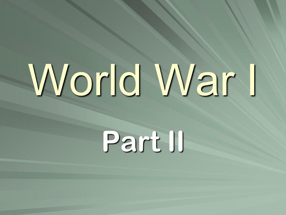 World War I Part II