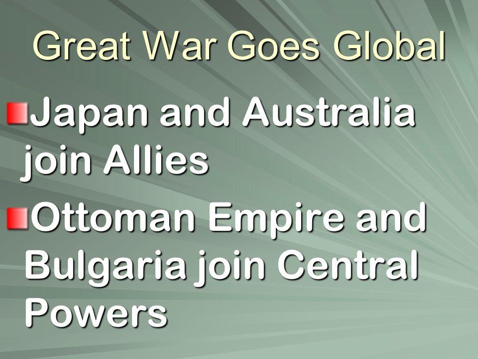 Gallipoli Campaign Allies needed supply line to Russia Attack region in Ottoman Empire –Dardanelles Dardanelles –Began Feb.