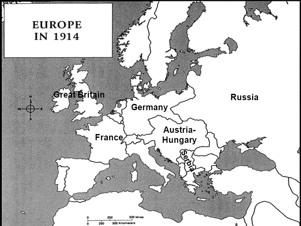 Great Britain France Germany Russia Austria- Hungary Serbia