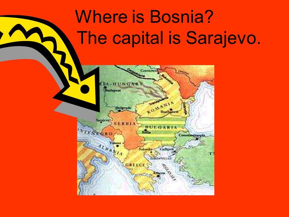 Where is Bosnia? The capital is Sarajevo.