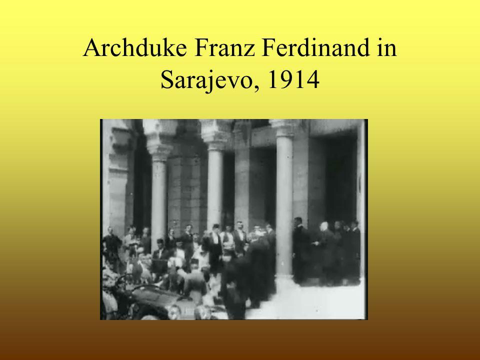 Archduke Franz Ferdinand in Sarajevo, 1914