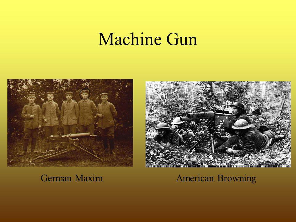 Machine Gun German MaximAmerican Browning