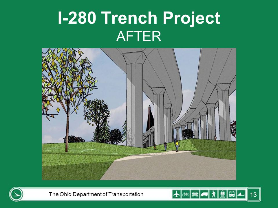 I-280 Trench Project AFTER The Ohio Department of Transportation 13