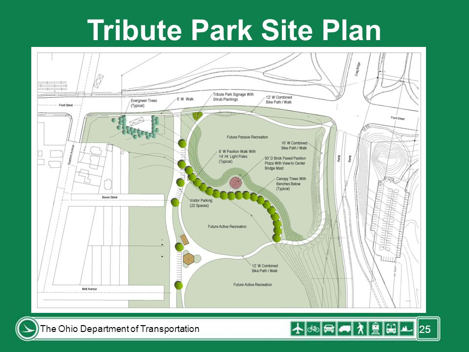 25 The Ohio Department of Transportation Tribute Park Site Plan