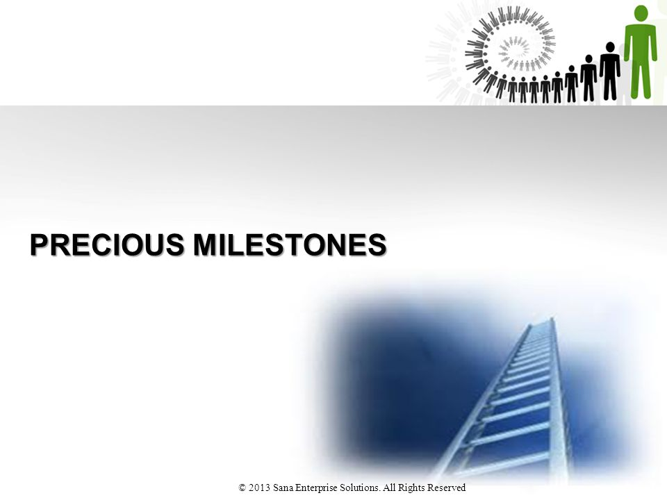 PRECIOUS MILESTONES © 2013 Sana Enterprise Solutions. All Rights Reserved