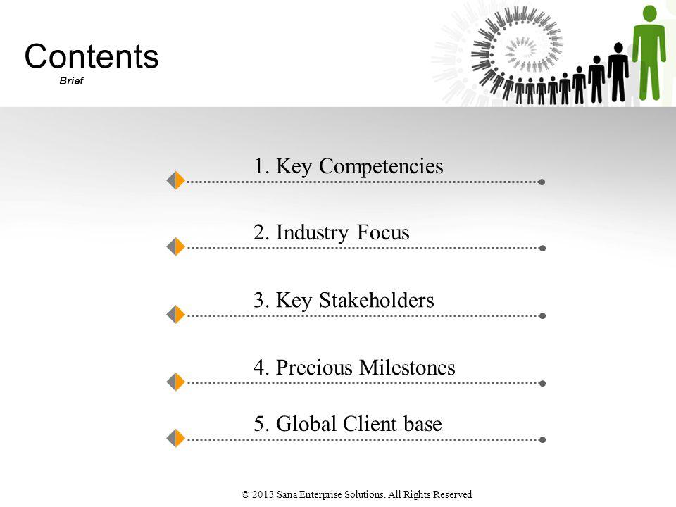 Contents Brief 1. Key Competencies 2. Industry Focus 3.