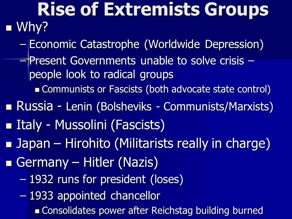 Rise of Extremists Groups Why. Why.
