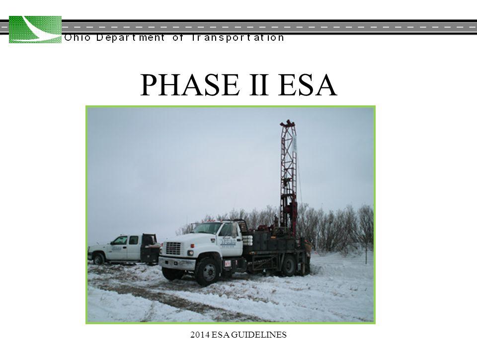 PHASE II ESA 2014 ESA GUIDELINES