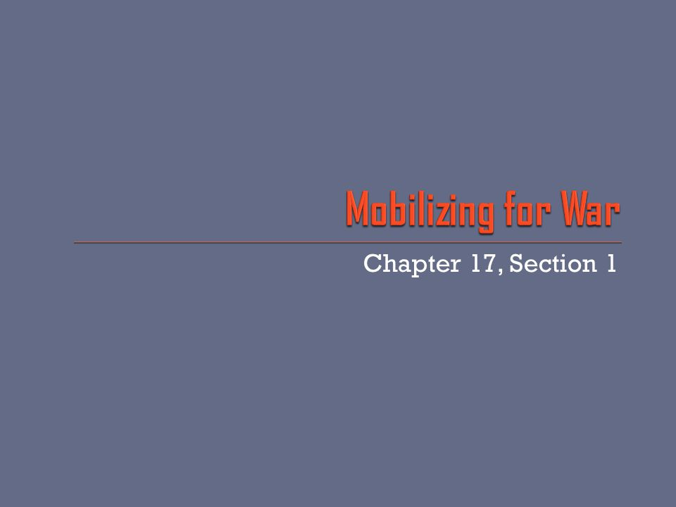 Chapter 17, Section 1