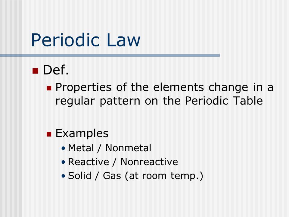 Periodic Law Def.