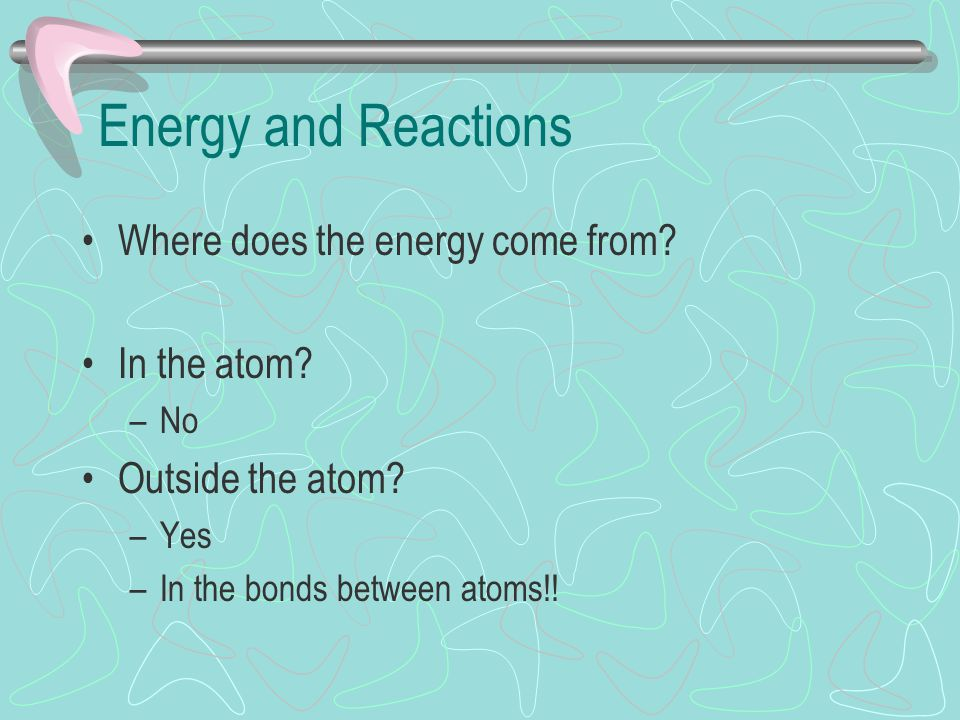 Bonds and Energy It takes energy to break bonds It takes energy to make bonds What ' s the importance of the Law of Conservation of Energy.