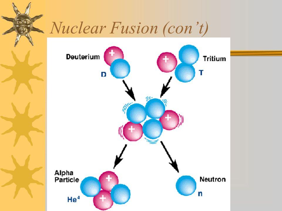 Nuclear Fusion (con't)