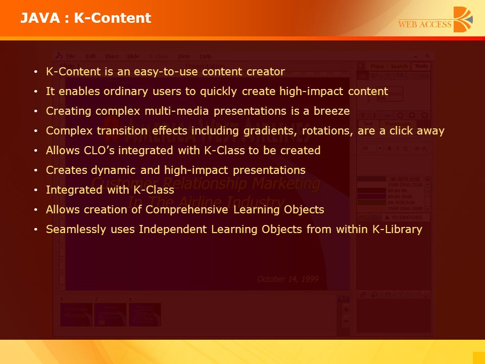 K-Content is an easy-to-use content creator It enables ordinary users to quickly create high-impact content Creating complex multi-media presentations