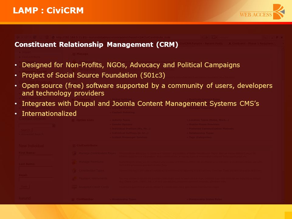 Constituent Relationship Management (CRM) Designed for Non-Profits, NGOs, Advocacy and Political Campaigns Project of Social Source Foundation (501c3)