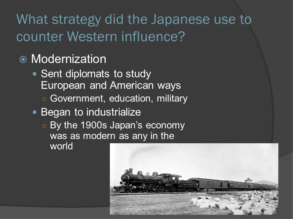What strategy did the Japanese use to counter Western influence.