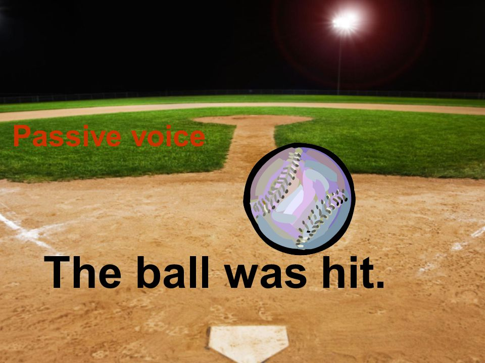 Active voice Goofy hit the ball.