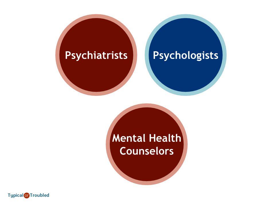 PsychiatristsPsychologists Mental Health Counselors