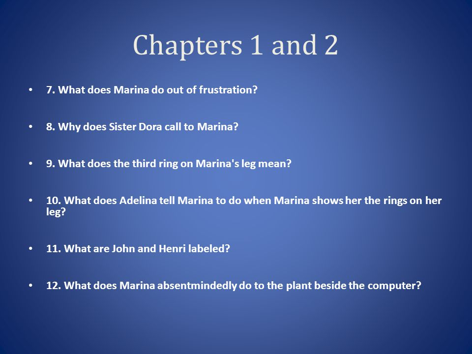 Chapters 8 and 9 7.What is the first legacy that appears for Six.