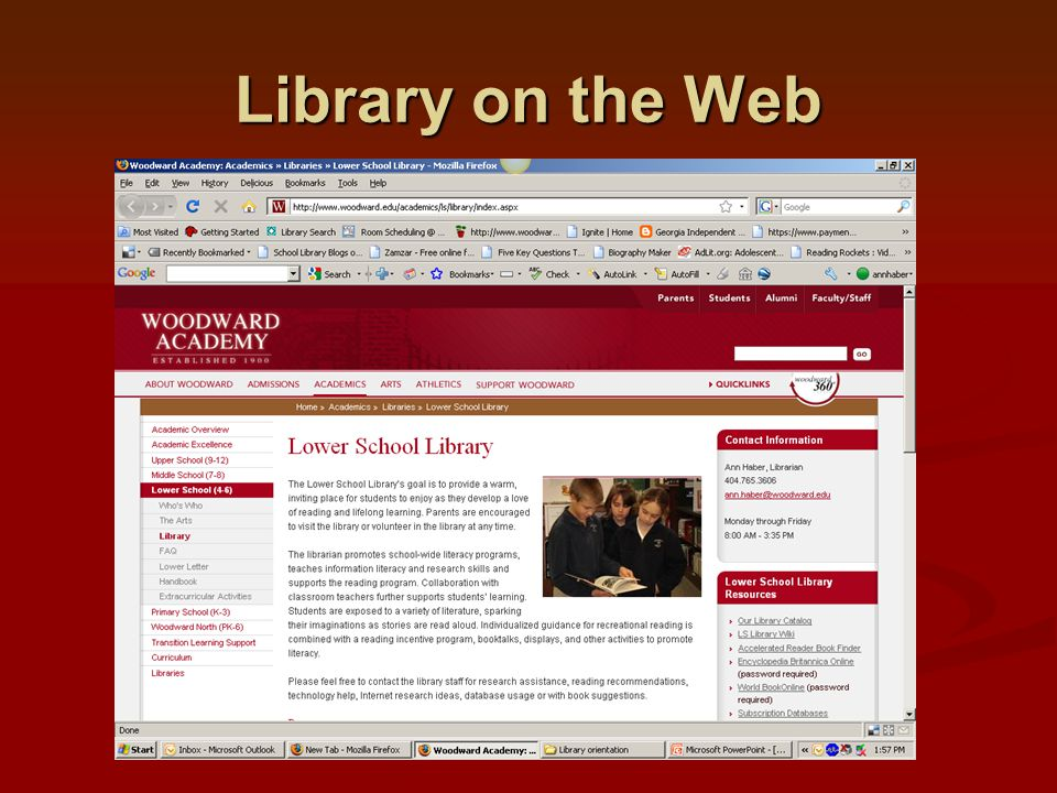 Library on the Web Explore the links!