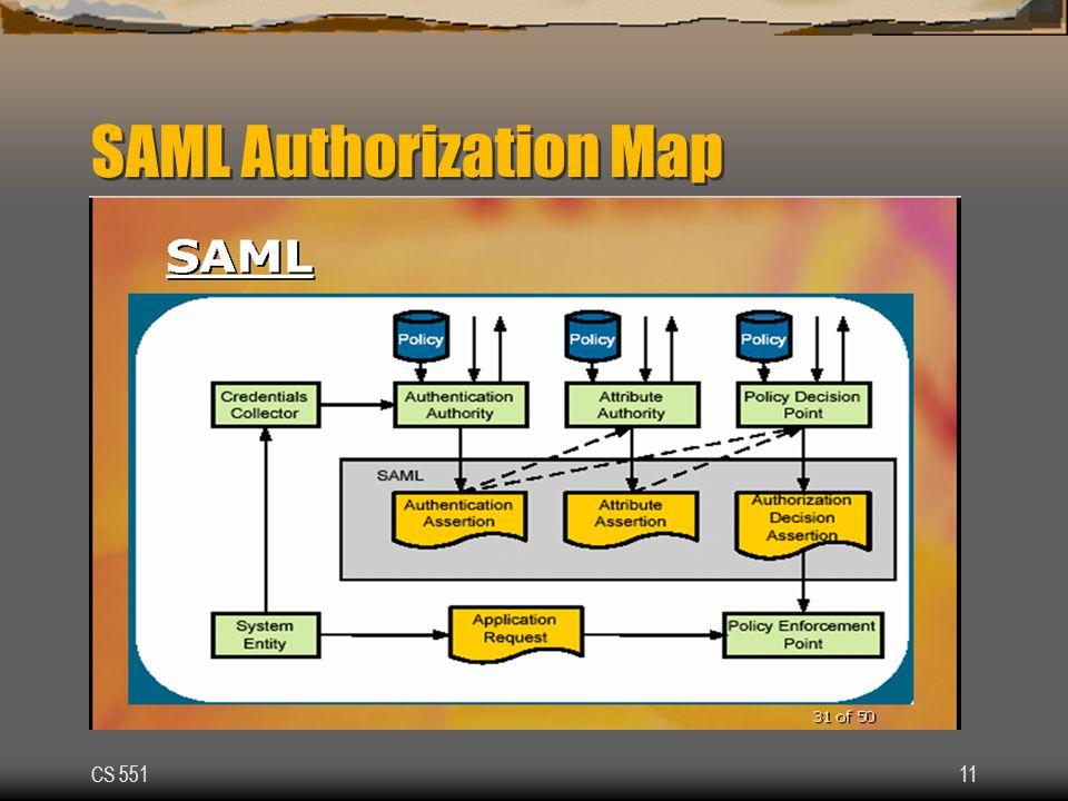 CS 55111 SAML Authorization Map