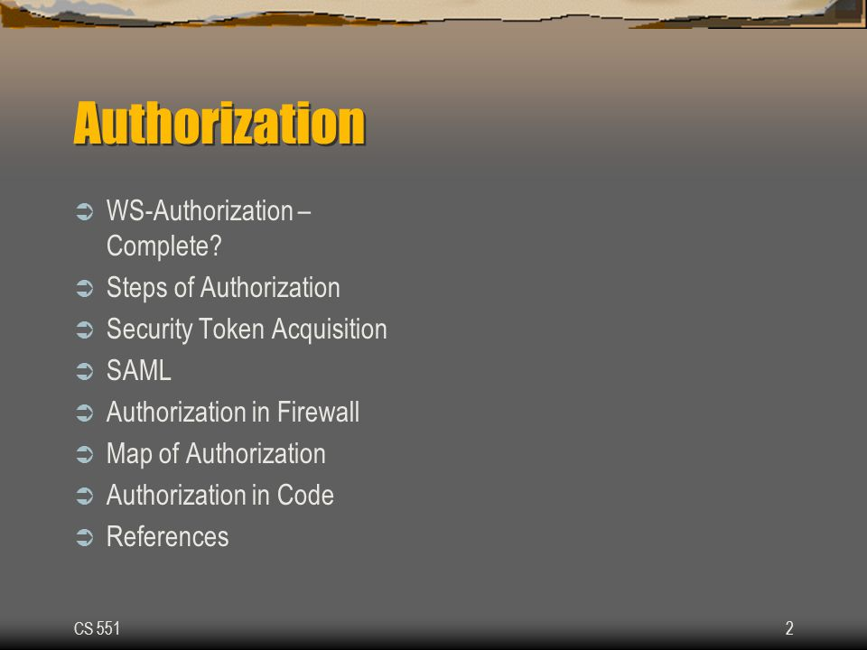 CS 55113 Authorization in Firewall Processing Claims officer/ Customer Insurance Co. Web-Service
