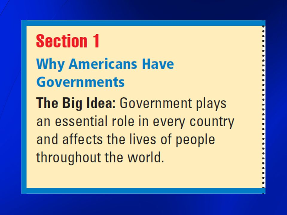 The U.S.Government 1. System of Laws and Authority 2.