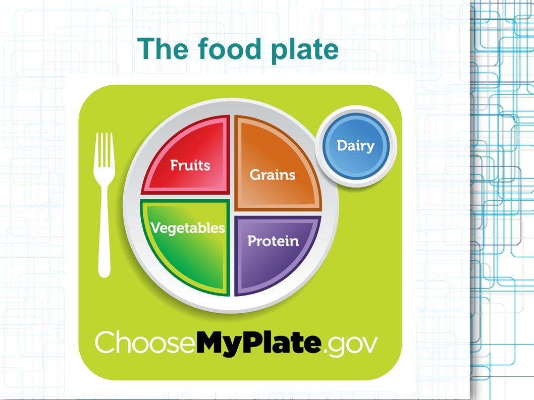 Tips to a great plate find out how many calories you need daily- exercise matters Enjoy your food-but eat less Avoid oversized portions Eat more fruits, vegetables, whole grains Switch to lower fat milk products Make half of the plate fruits and vegetables Make half your grains whole grains Use lower sodium products Drink more water