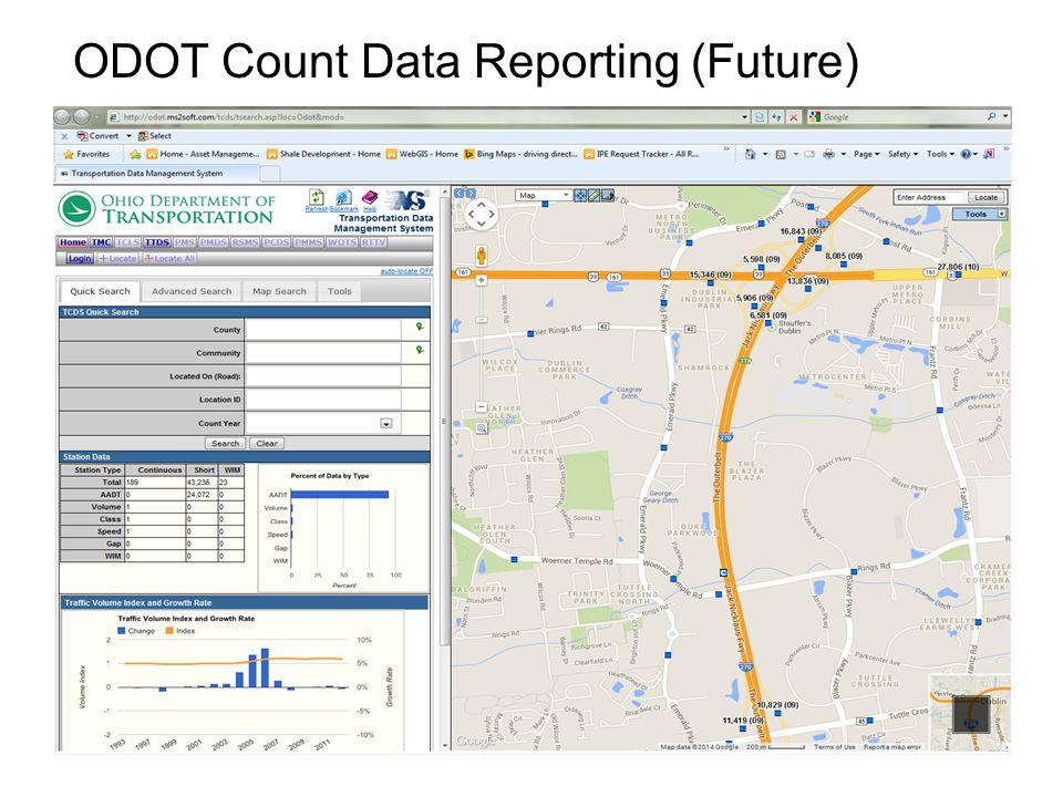 ODOT Count Data Reporting (Future)