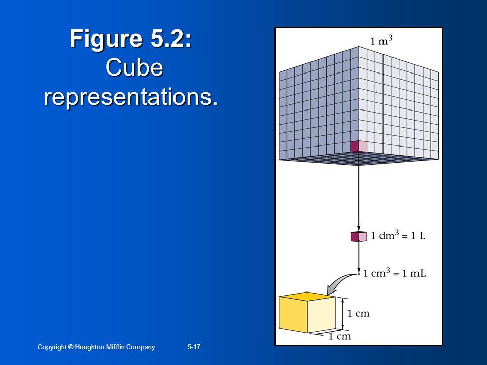 Copyright © Houghton Mifflin Company5-17 Figure 5.2: Cube representations.