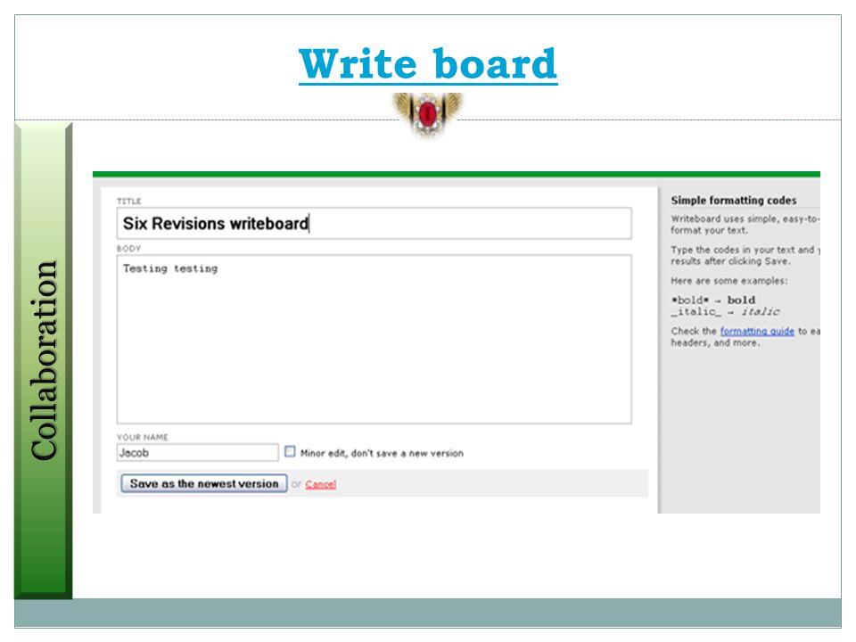 Google Docs Stixy Project2Manage DabbleboardProtonotesProjectPierTwiddlaWetpaintSkypeThinkatureSpicebirdMindquarry DOVyewWrite board