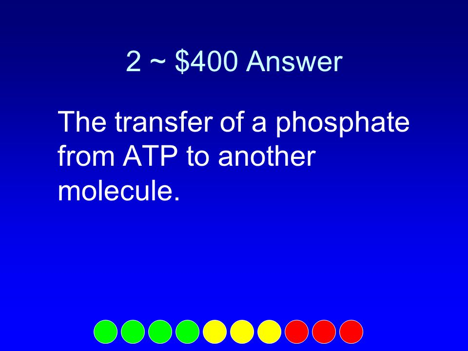 2 ~ $300 Question What is ATP synthase