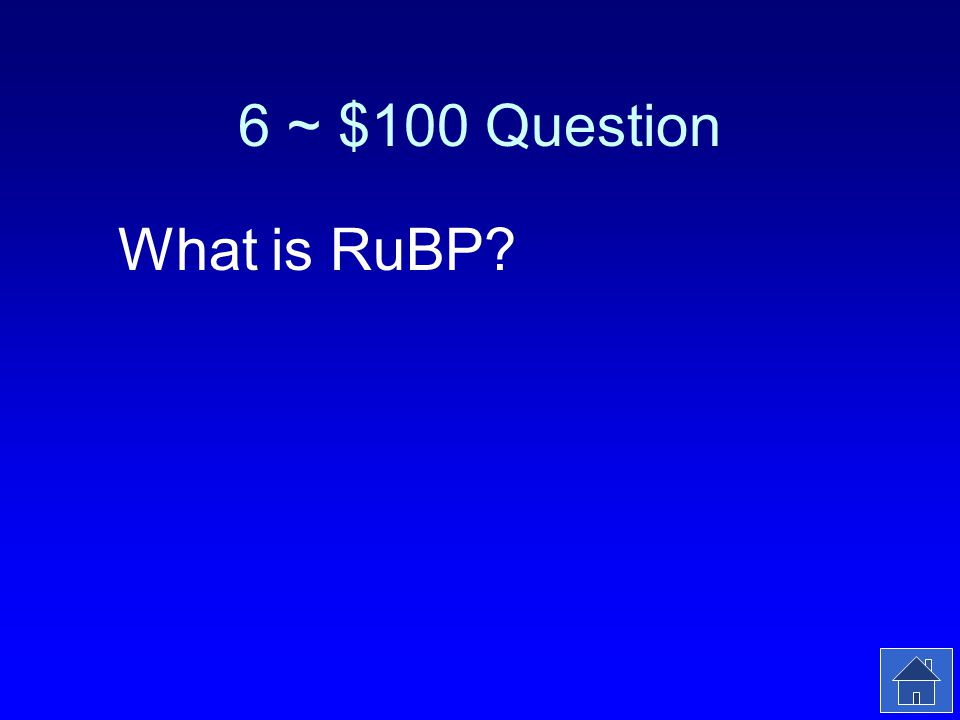 6 ~ $100 Answer The molecule that fixes CO 2.
