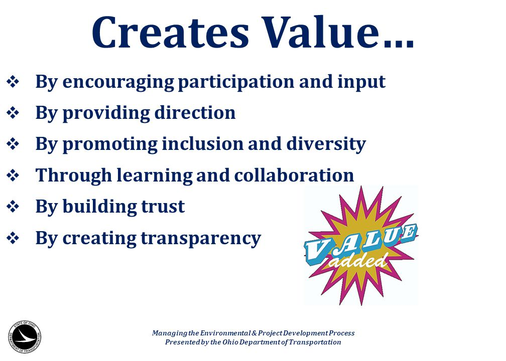  By encouraging participation and input  By providing direction  By promoting inclusion and diversity  Through learning and collaboration  By bui