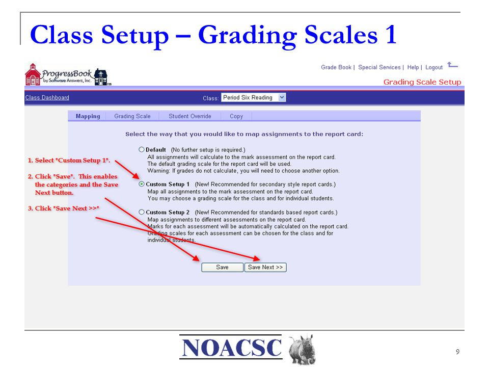 9 Class Setup – Grading Scales 1