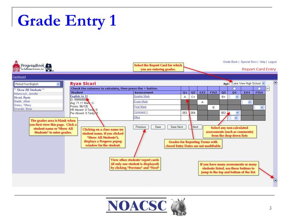 3 Grade Entry 1