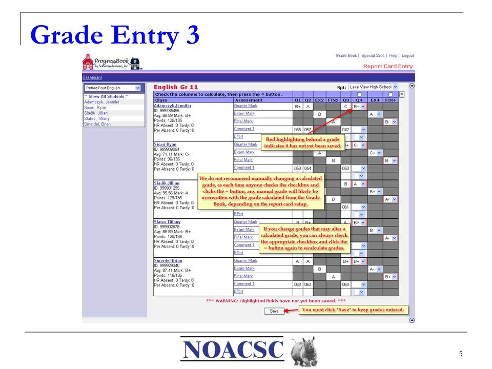 5 Grade Entry 3